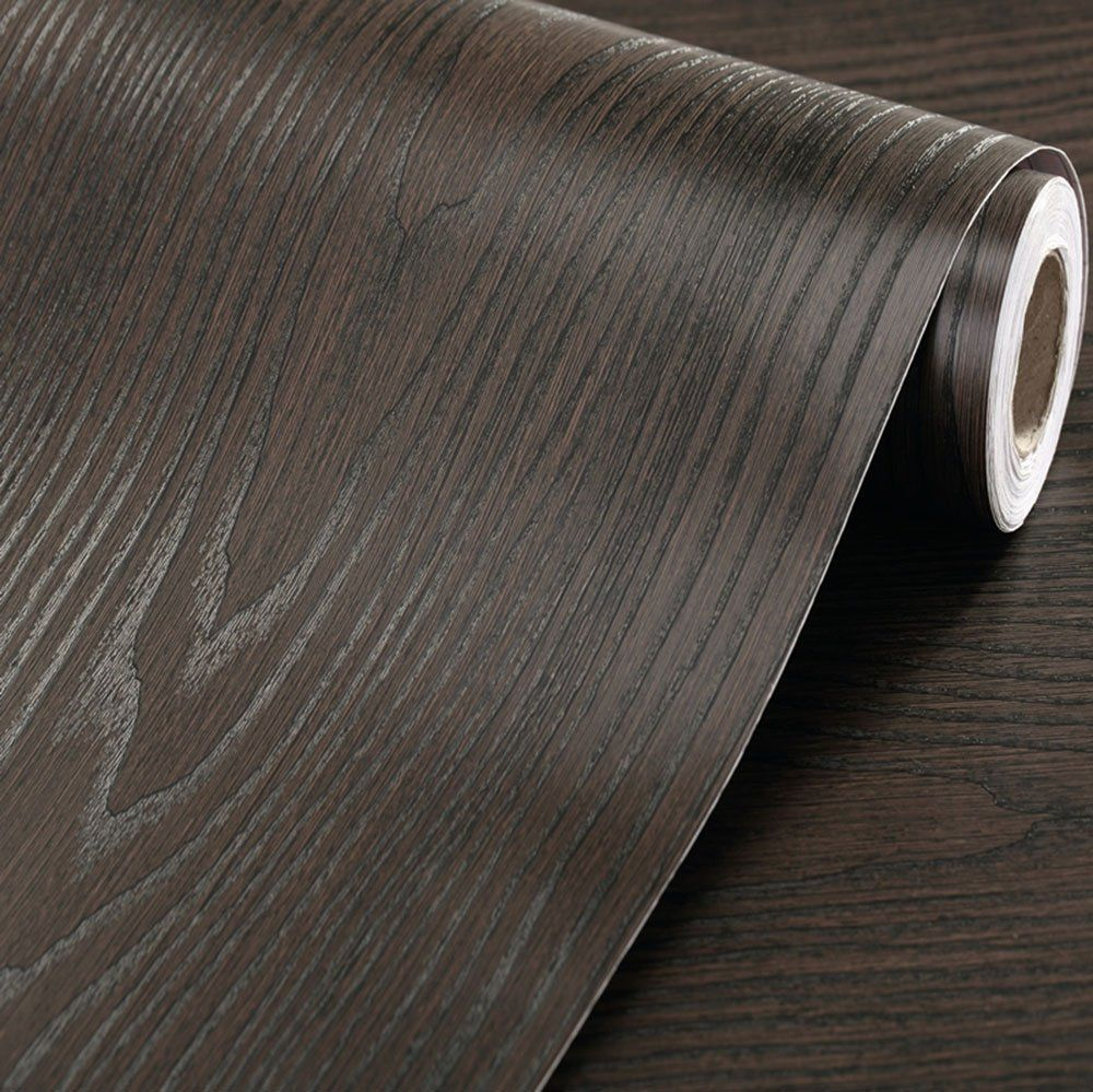 Thick Contact Paper Self Adhesive Vinyl Black Wood Contact Paper Vinyl Shelf Adhesive Vinyl Wood Adhesive