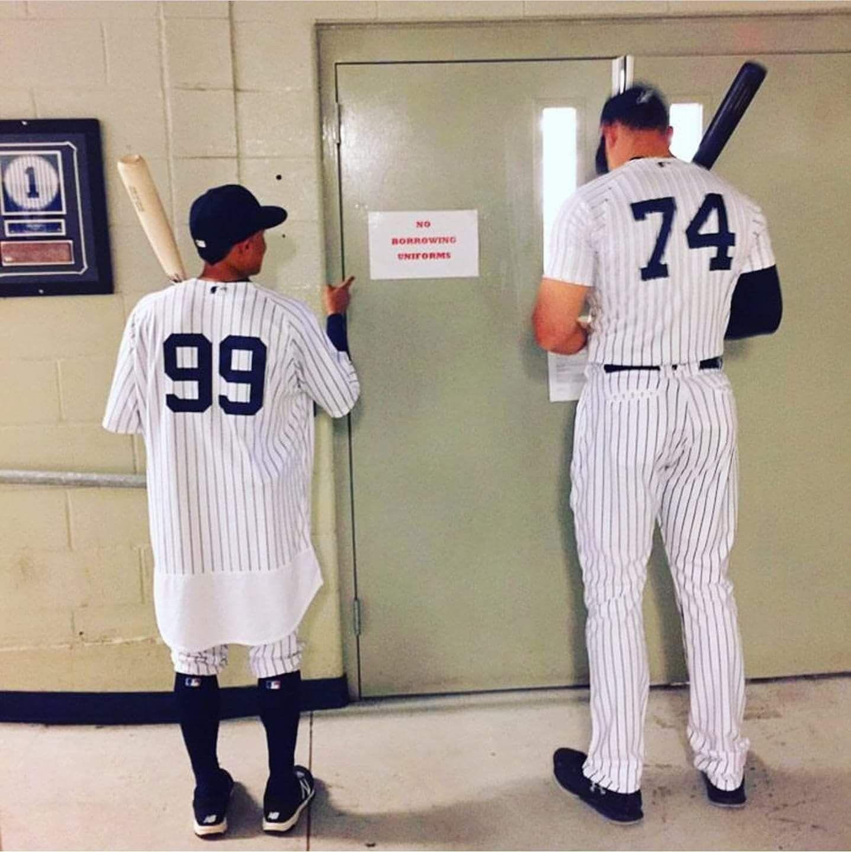 new concept e3c20 238be Torreyes and Judge | Yankees baseball | New york yankees ...