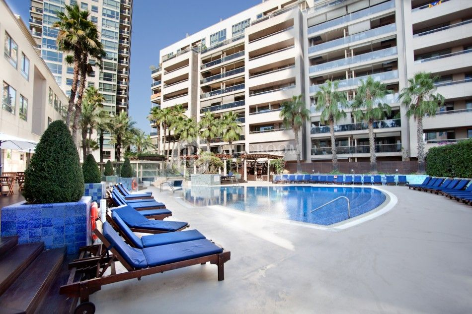 Beach apartment Barcelona Diagonal Mar. Luxury holiday