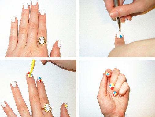 Diy Nail Art Tutorial Beach Ball Inspired Nails Nail Crazy