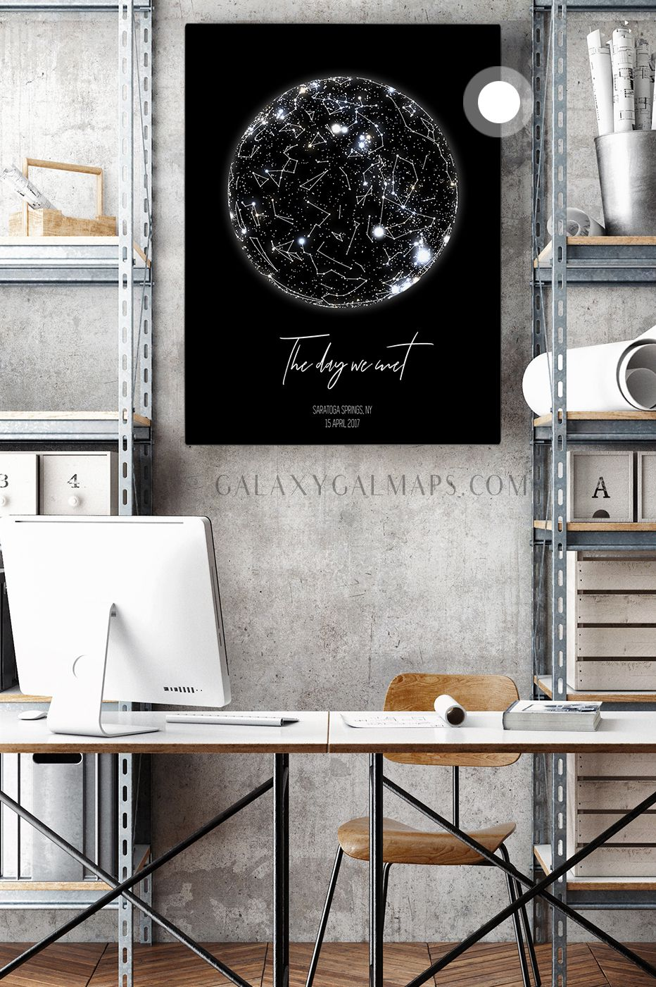 Unique sky map for your date astronomy print wall art toddler