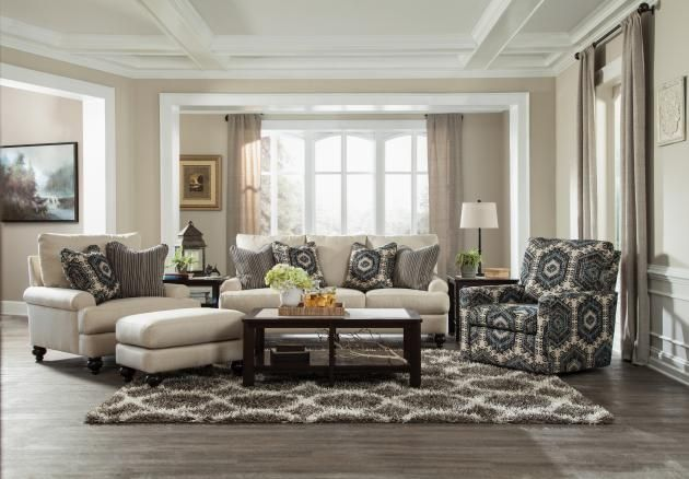 Westchester 3232 Soft Linen Feather Blend Sofa Set With Images Living Room Furniture Styles Jackson Furniture Ashley Furniture Living Room