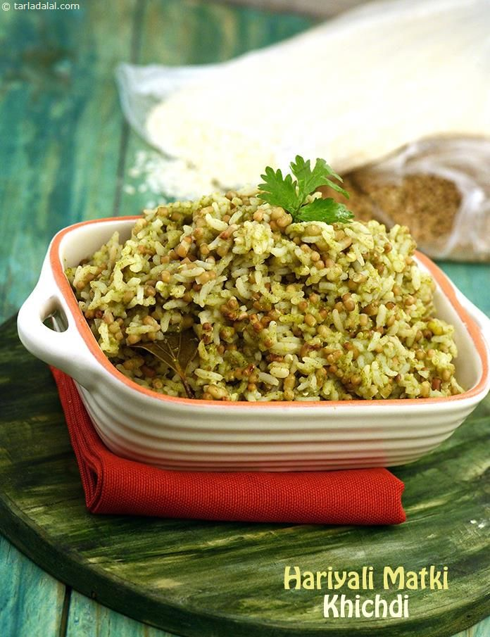Hariyali matki khichdi recipe recipes rice and biryani hariyali matki khichdi recipe by tarla dalal tarladalal 39571 forumfinder Choice Image