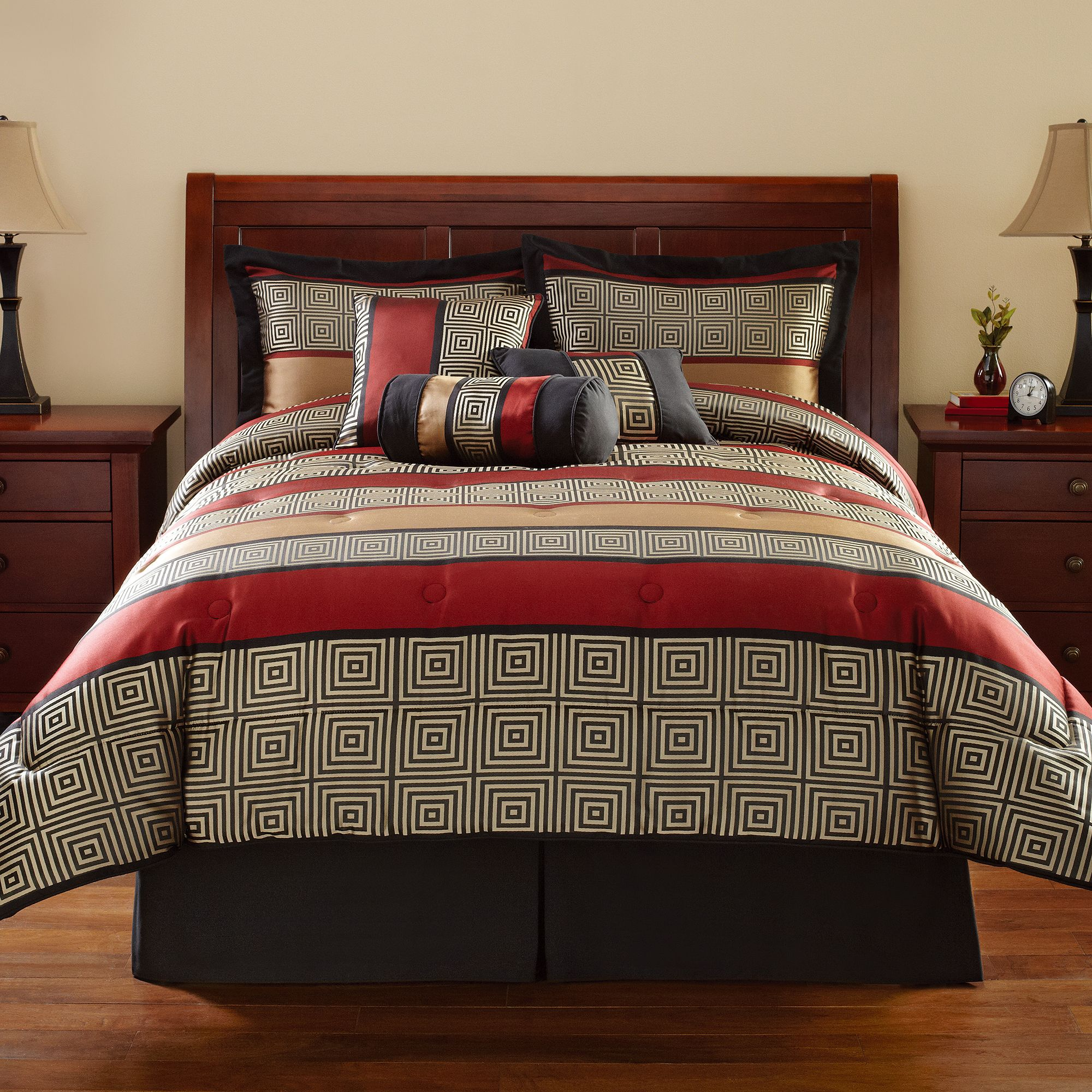 Only at Walmart Mainstays Multi-Color Geometric Stripe Preston 7 ...