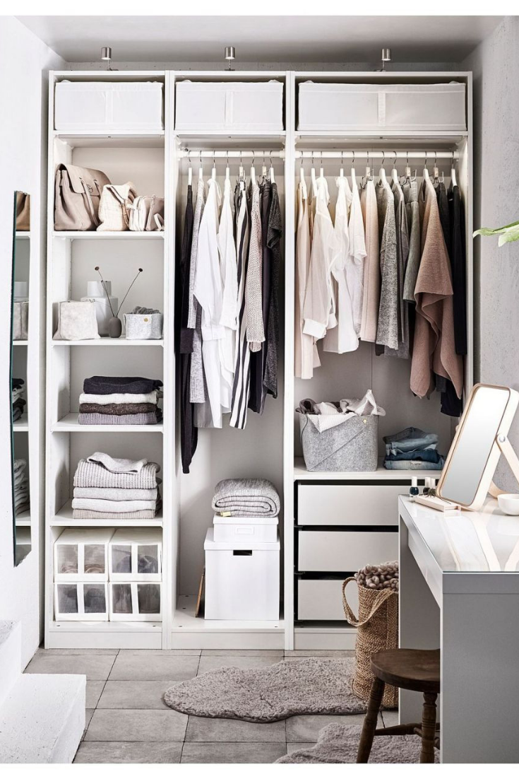 Storage Ideas For Small Spaces Ikea Pax Wardrobe Closet Bedroom Closet Design