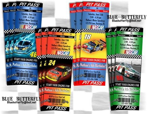 Nascar party invitation ticket style printable and customized nascar party invitation ticket style printable and customized filmwisefo Choice Image