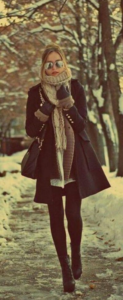 I want some cute booties. Then leggins, a sweater, and MANY scarves :D