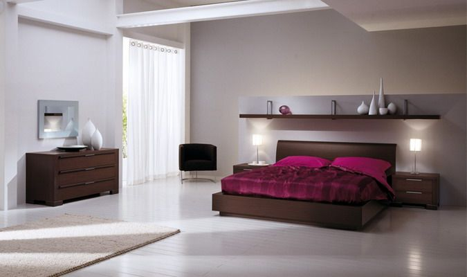 Awesome Beautiful Modern Purple Bedroom Home Interior Decoration Ideas Picture