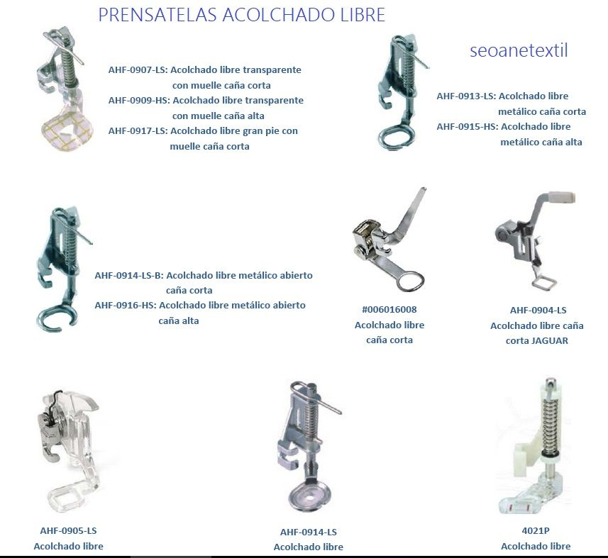 Máquinas y accesorios para la confeccion domestica e industrial ...