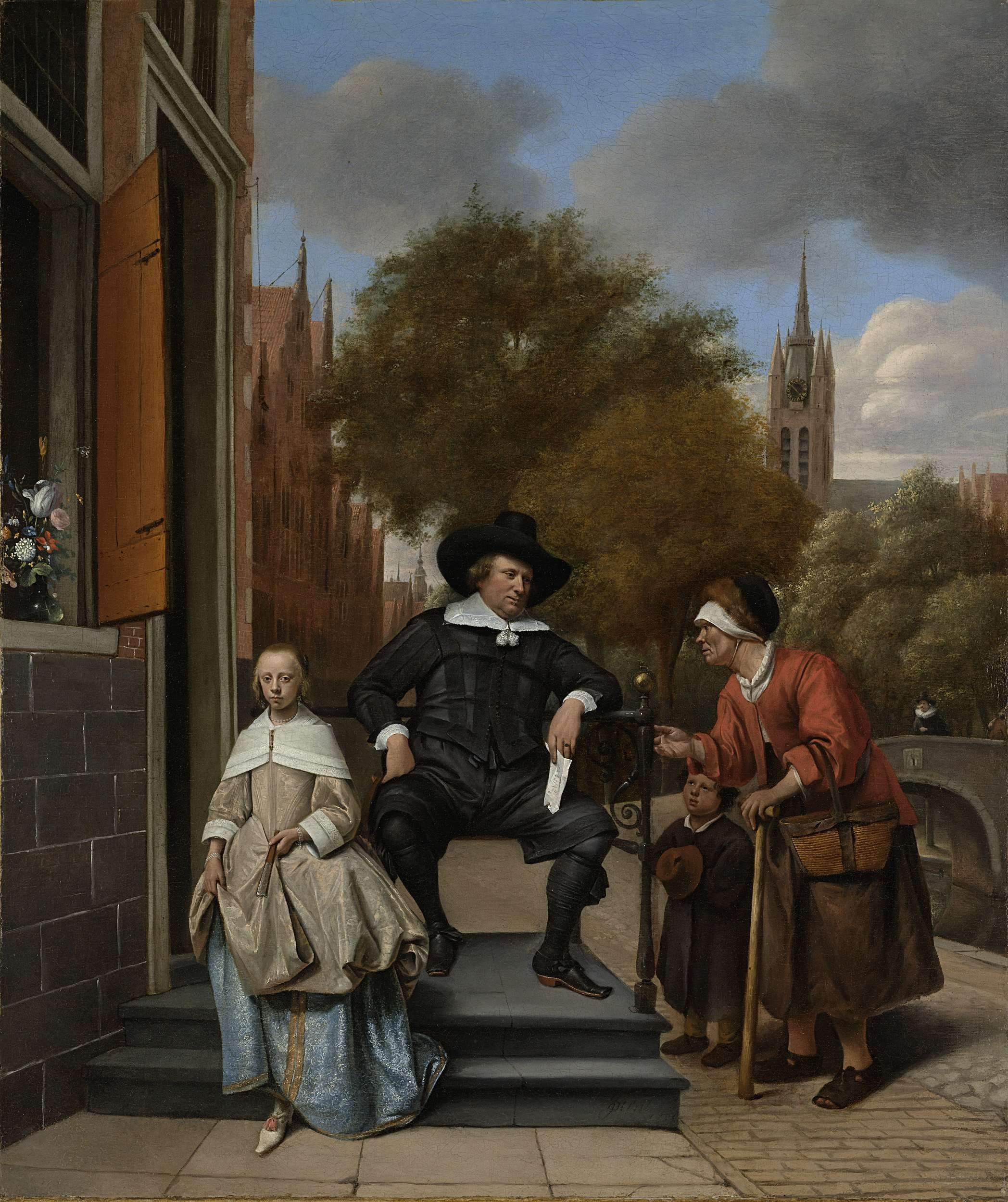 Adolf and Catharina Croeser, Known as 'The Burgomaster of Delft and his Daughter', Jan Havicksz. Steen, 1655