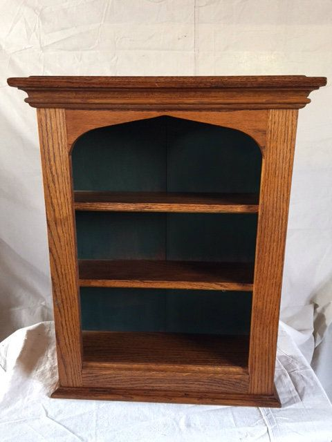 Cardinal Ing Services Llc New Original Reproduction Wall Cupboard Wooden Gothic Style Open Shelf