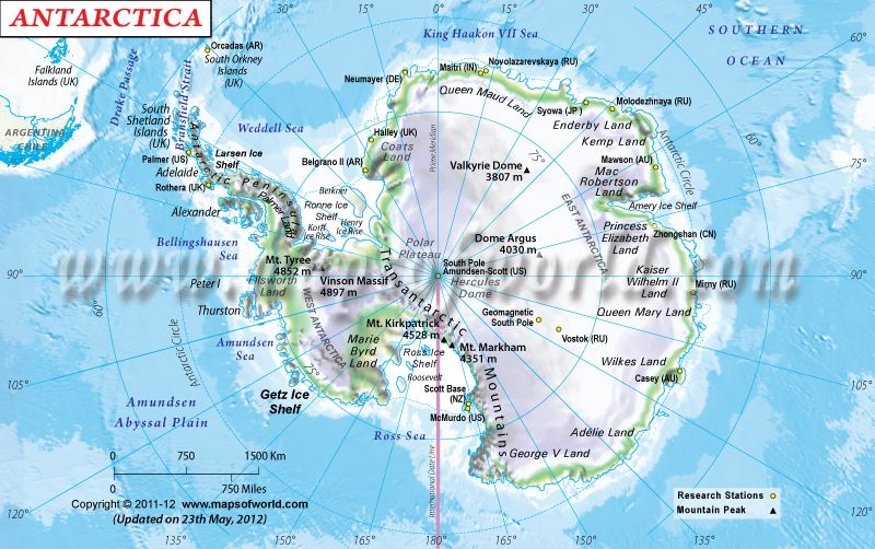 Physical Map of Antarctica Interesting Maps Pinterest