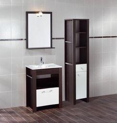 Meuble cancun 60 cm avec plan vasque ceram magasin de - Meuble vasque salle de bain brico depot ...