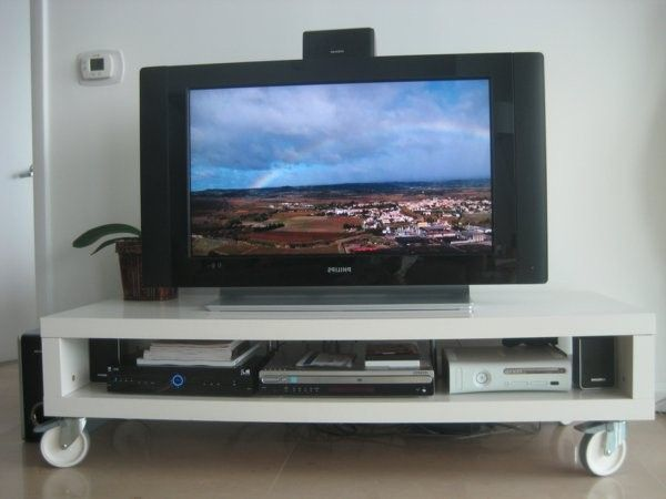Superior Modern Living Room Tv Table On Casters