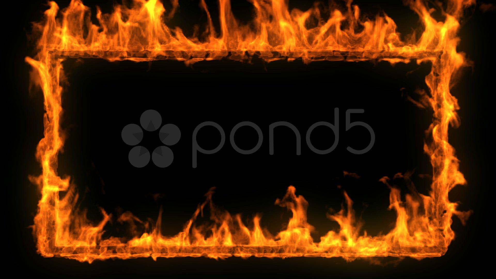 Burning Frame Flame Border Stock Footage Flame Frame Burning Footage Photoshop Vector Images Image