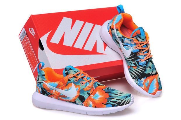 788c97a8da21 Nike Roshe Run (Palm Tree Leaves Print Orange Mint)