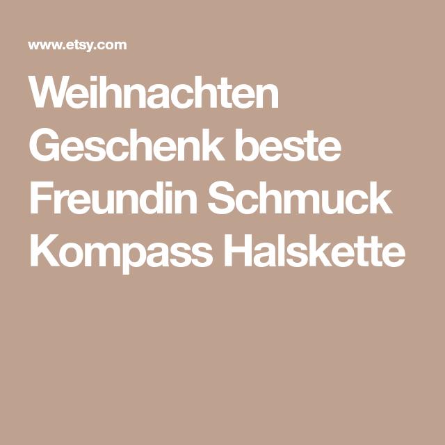 Weihnachten Geschenk beste Freundin Schmuck Kompass Halskette ...