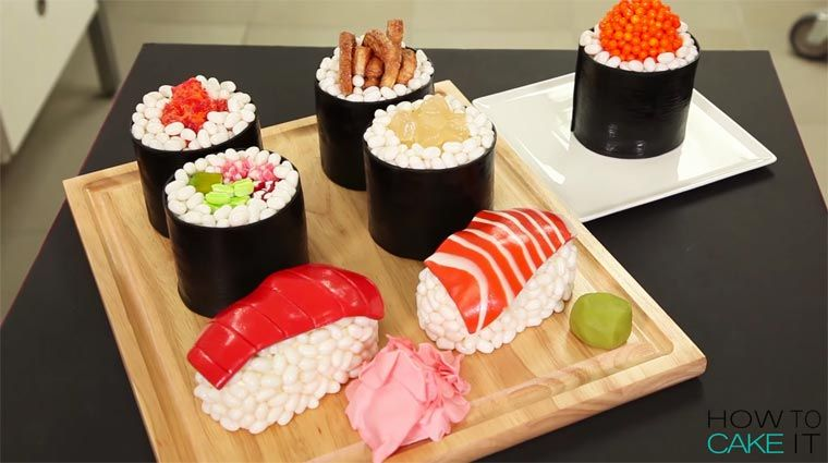 Sushi Cake   How to make an ultra-realistic sushi platter ...