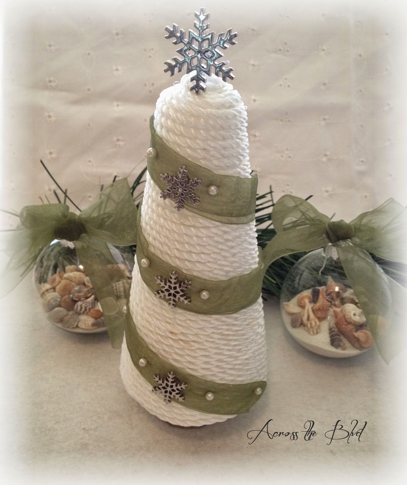 How To Make A Coastal Cone Tree and Sea Shell Ornaments