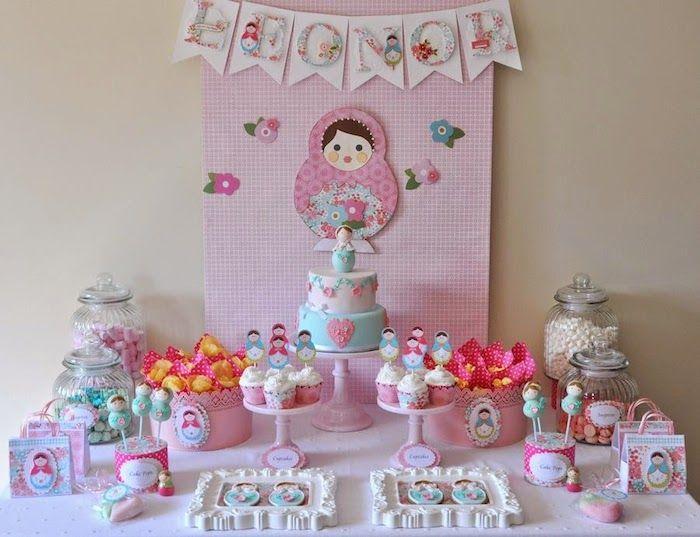 Matryoshka Doll Themed Birthday Party via Karas Party Ideas
