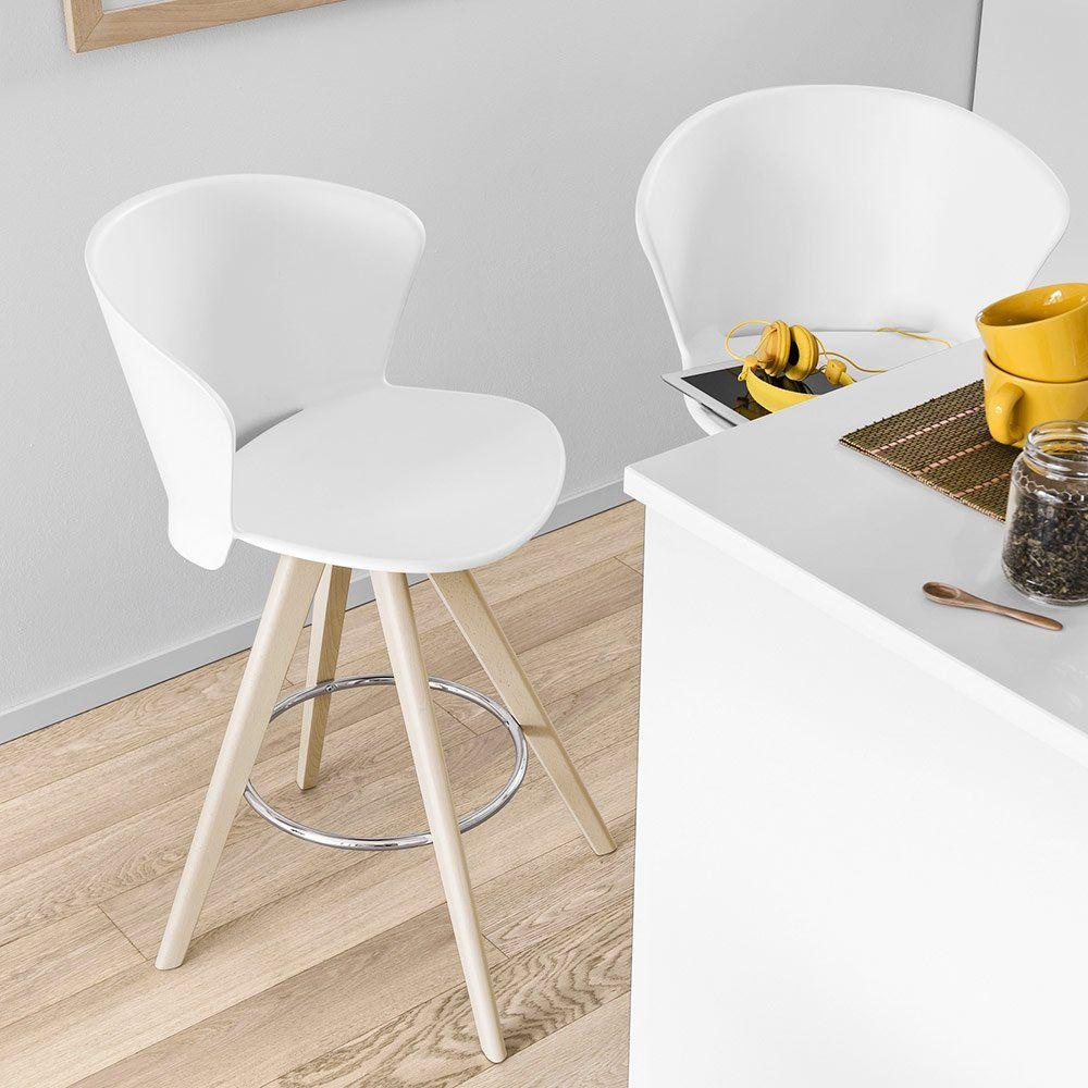 Une Chaise Haute Avec Dossier Calligaris Pour La Cuisine