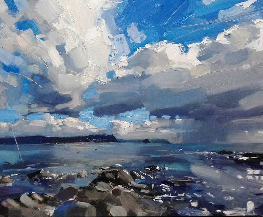 Peter S Splosh Near Portscatho Squall Landscape Landscapepainting Oils Oilpainting Landscape Art Abstract Landscape Painting Landscape Artist