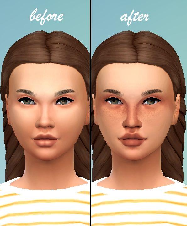 Mod The Sims Harper A Full Face Skin Detail The sims 4 skin