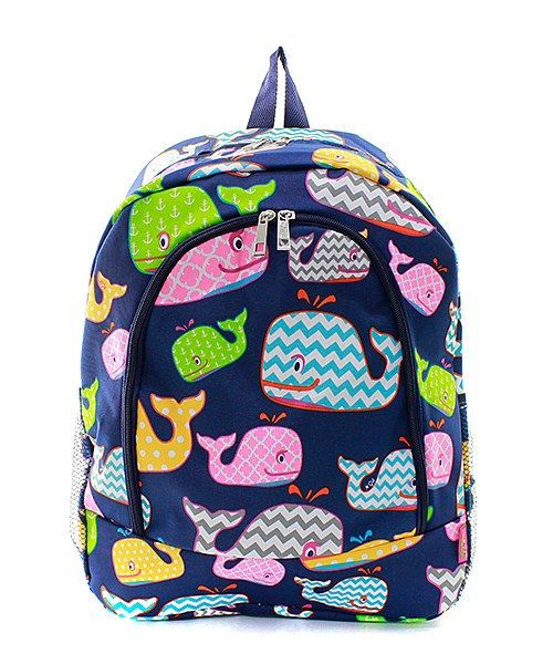 Personalized Whale Student Backpack