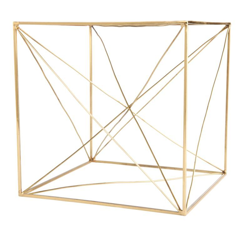 Brass Cube Sculpture