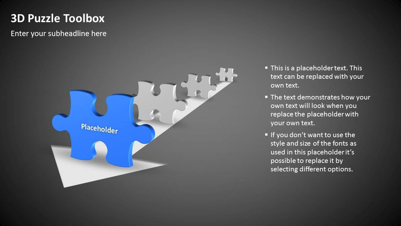 Free #slide - 3D Puzzle | POWERPOINT VORLAGEN // KOSTENLOS ...