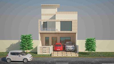 marla house plan design elevation also rh in pinterest
