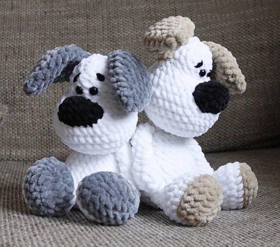 PDF Crochet Pattern GERMAN Dog Elvis