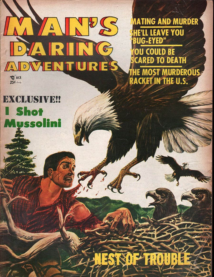 Pin By Cedar Bristol On It S A Man S World Men S Adventure Magazines If You Are Easily Offended Don T Look Adventure Adventure Magazine Man