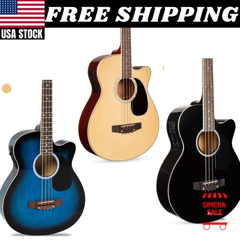 Acoustic Electric Bass Guitar High Quality Sound Beginner Professional Glossy Ebay In 2021 Acoustic Electric Electric Bass Guitar