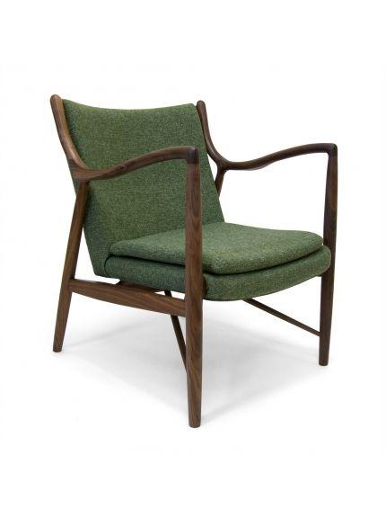 Petrow Chair Green American Walnut Furniture Green Chair Armchair