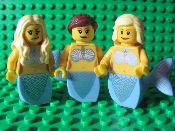 Custom Minifigures H20 Just Add Water Inspired Mermaids Etsy Lego Mini Figures Custom Lego