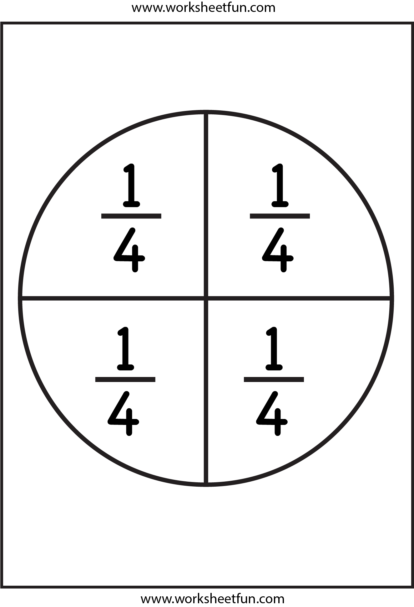 Enterprising image pertaining to printable fraction circles