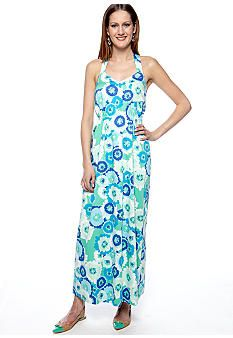09a27113629a ellen & ollie Criss-Cross Back Printed Maxi Dress - Belk.com | e&o ...