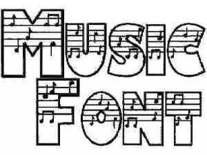 fonts music | 26 upper case letters 26 lower case letters