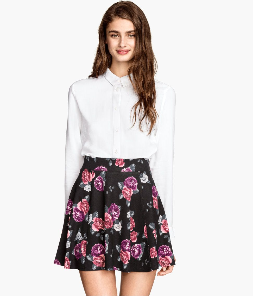 Consider, that H m floral skirt have