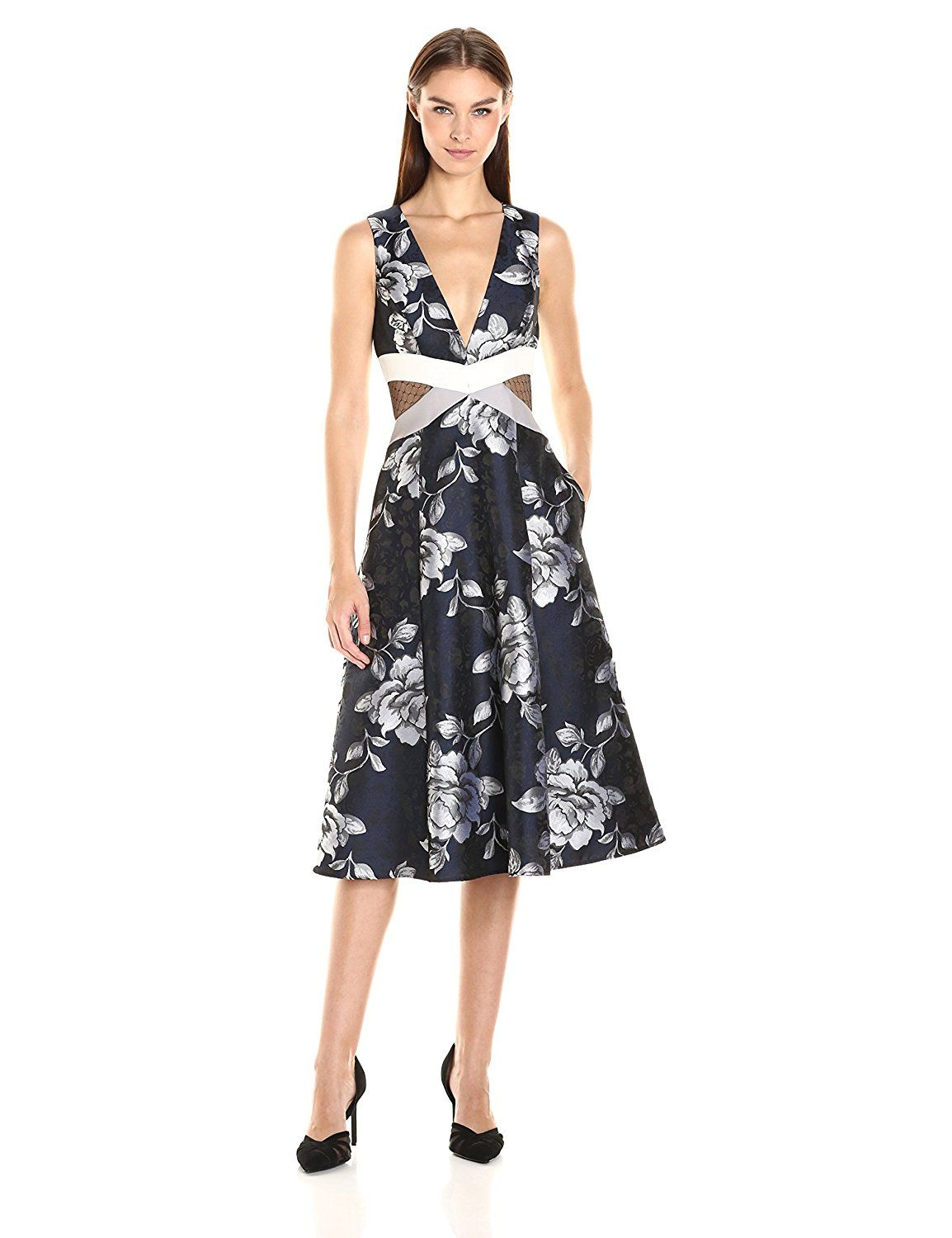ABS Allen Schwartz Women's Fit and Flare Floral Dress at Amazon Women's Clothing store: