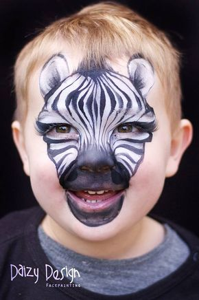 Makeup Artist Christy Lewis From New Zealand Creates Funny Animal Face Painting For Children Animal Face Paintings Zebra Face Paint Face Painting Easy