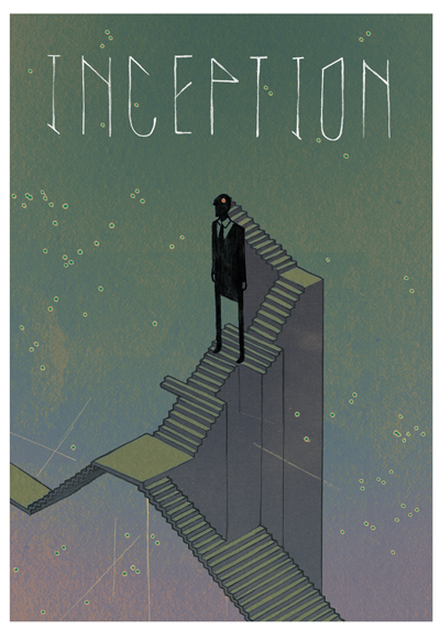 Illustration Inception Movie Poster Daniel Orellana Inception Movie Poster Movie Posters Vintage Inception Poster