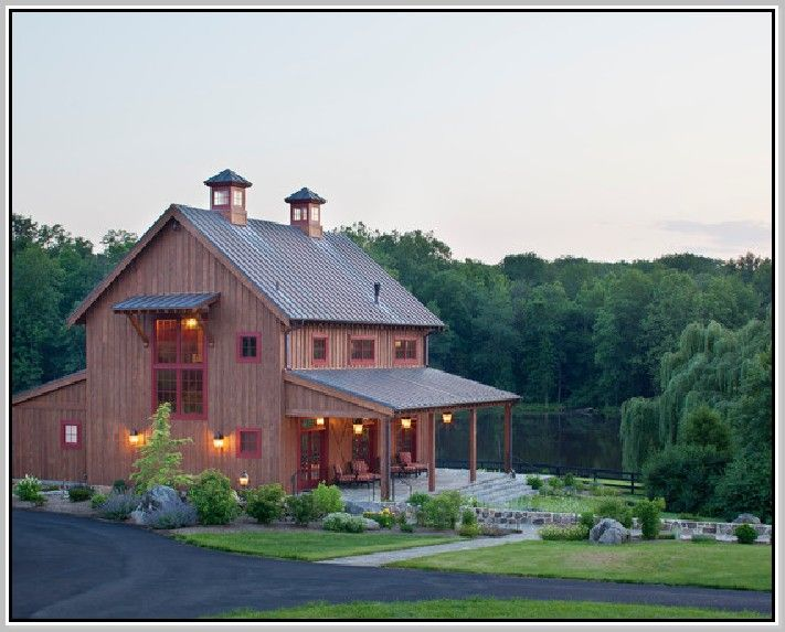 Modern pole barn house plans for Affordable barn homes