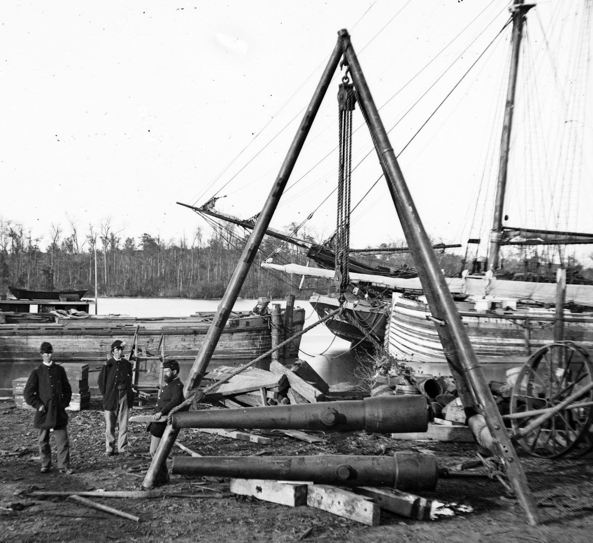 Broadway Landing Va Tripod Artillery Swing By The Appomattox