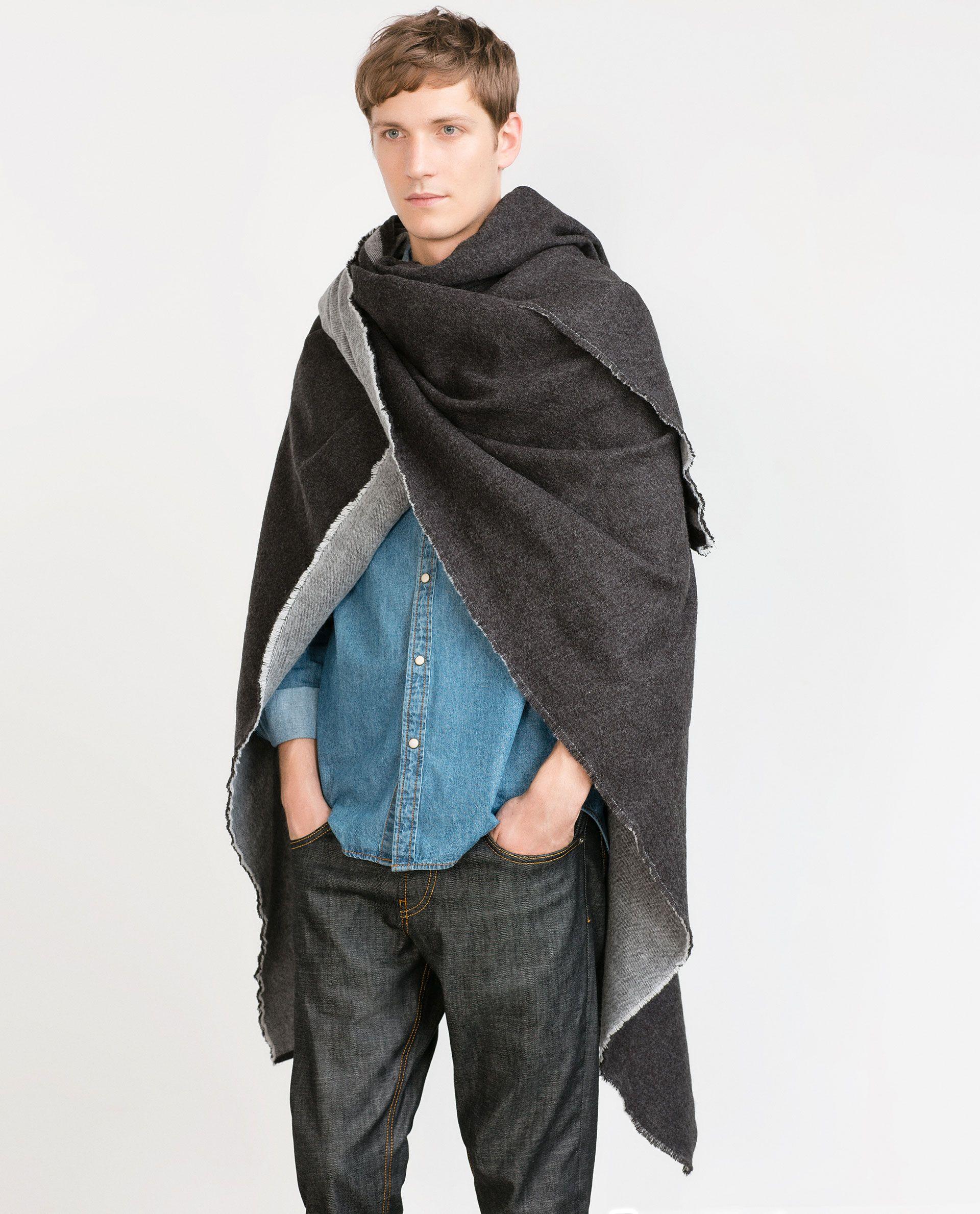 d2871dc2e REVERSIBLE STRIPED PONCHO - View all - Knitwear - MAN   ZARA Belgium Mens  Poncho,