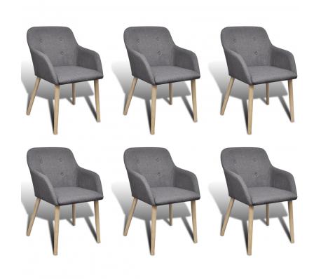 6 X Esszimmerstuhl Lehnstuhl Eichenholz Armlehne Dunkelgrau Esszimmerstuhle Moderne Stuhle Esszimmerstuhl