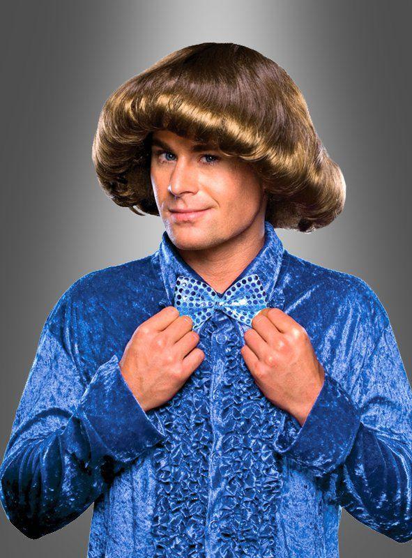70er Jahre Perucke Mit Fohnwelle Fur Schlagerparty Modestil Ruschenhemd Perucken