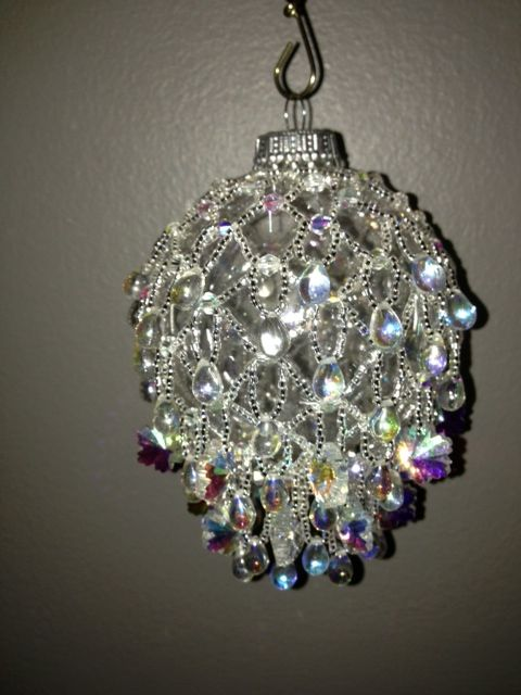 Snowflake beaded ornament cover