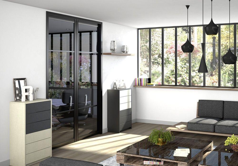 porte de placard style atelier yj75 jornalagora. Black Bedroom Furniture Sets. Home Design Ideas